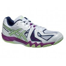 Asics Gel Blade 5 2015 weiss/purple Indoorschuhe Damen