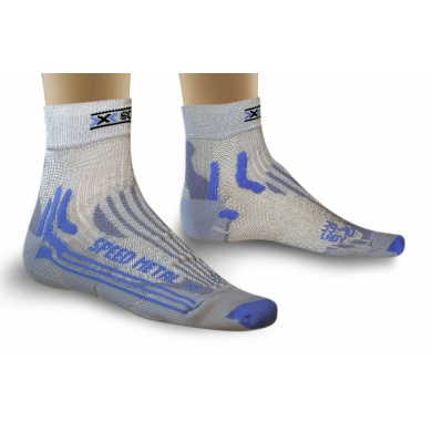 X-Socks Laufsocke Speed Metal silber/blau Damen