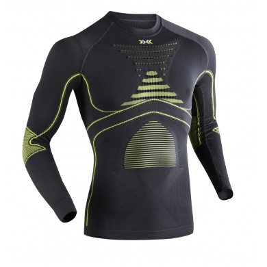 X-Bionic Energy Accumulator Evo Shirt Long Sleeves grau/gelb Herren (Größe XXL)