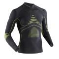 X-Bionic Energy Accumulator Evo Zip-Shirt grau/gelb Herren