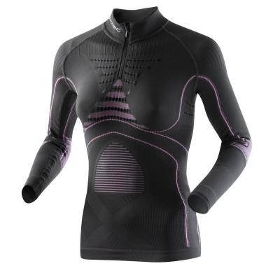 X-Bionic Energy Accumulator Evo Zip-Shirt charcoal/fuchsia Damen