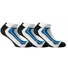 Rohner Basic Sneaker technical weiss/blau 3er