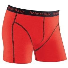 Rohner Boxershort Basic rot/schwarz Herren 1er
