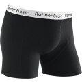 Rohner Boxershort Basic schwarz/weiss Herren 1er