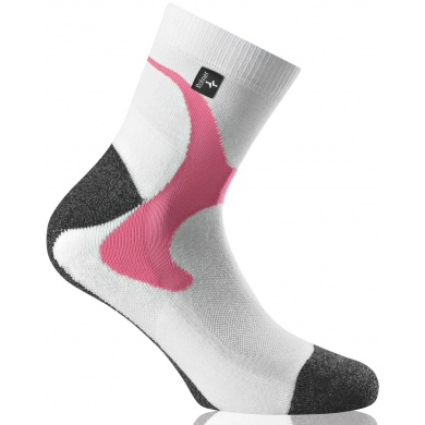 Rohner Next Nordic Walkingsocken weiss/pink 2er