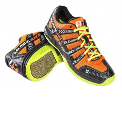 Salming Race R1 orange Indoorschuhe Herren