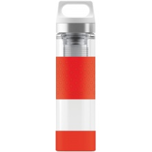 SIGG Trinkflasche Hot & Cold Glass WMB 400ml rot