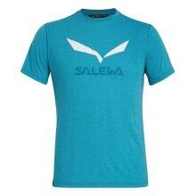 Salewa Tshirt Solidlogo aqua melange Herren