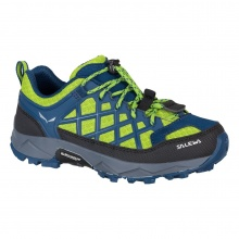 Salewa Wildfire blau/lime Outdoorschuhe Kinder