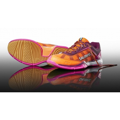 Salming Viper 4 2017 purple/orange Indoorschuhe Damen