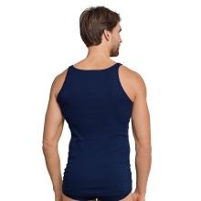 Schiesser Unterhemd Original Feinripp navyblau Herren