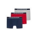 Schiesser Boxershorts 95/5 grau/blau/rot Herren 3er Pack
