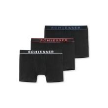 Schiesser Boxershorts 95/5 schwarz Herren 3er Pack
