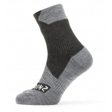Sealskinz Sportsocke Allwetter Ankle wasserdicht schwarz/grau - 1 Paar