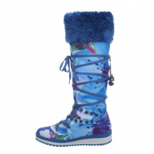 Snoboot Mutant High Flower 2013 blau Winterschuhe Damen