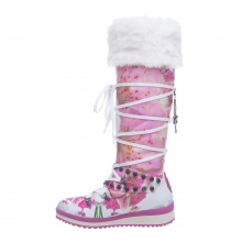 Snoboot Mutant High Flower 2013 weiss Winterschuhe Damen