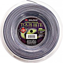 Solinco Tennissaite Tour Bite Diamond Rough (Spin+Haltbarkeit) silber 200m Rolle