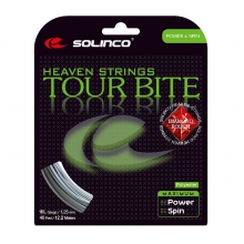 Solinco Tennissaite Tour Bite Diamond Rough (Spin+Haltbarkeit) silber 12m Set