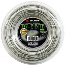Solinco Tour Bite SOFT silber Tennissaite 200m Rolle
