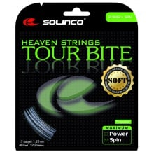 Solinco Tennissaite Tour Bite SOFT (Haltbarkeit+Touch) silber 12m Set