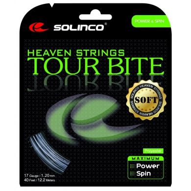 Solinco Tour Bite SOFT silber Tennissaite