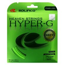 Solinco Tennissaite Hyper G SOFT (Power+Spin) grün 12m Set
