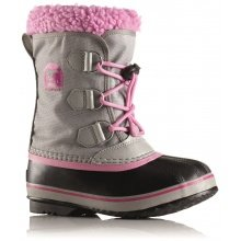 Sorel Winterstiefel Yoot Pac Nylon grau/pink Kinder