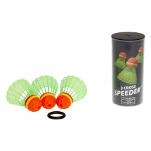 Speedminton ® Speeder Cross (bis 300kmh) 3er + 1x Windring