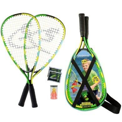 Speedminton ® Set Junior blau/grün/gelb