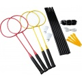 Sunflex Badminton Challenge 4er Set rot/gelb