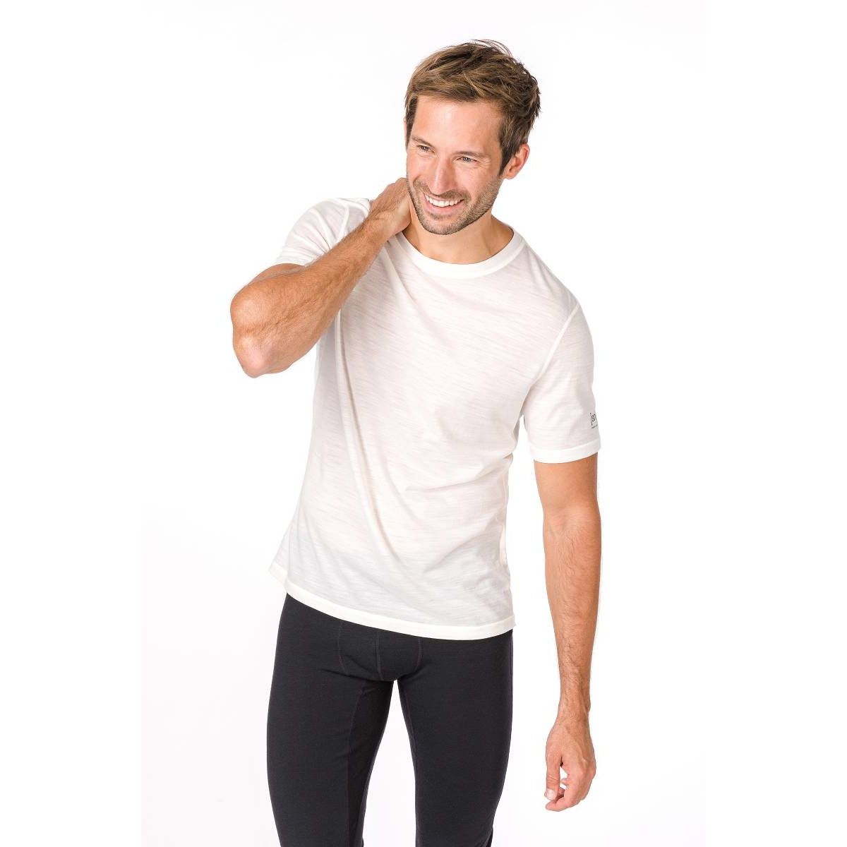 super natural Tshirt Base 140g weiss Herren
