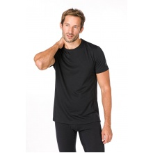 super natural Tshirt Base 175g schwarz Herren