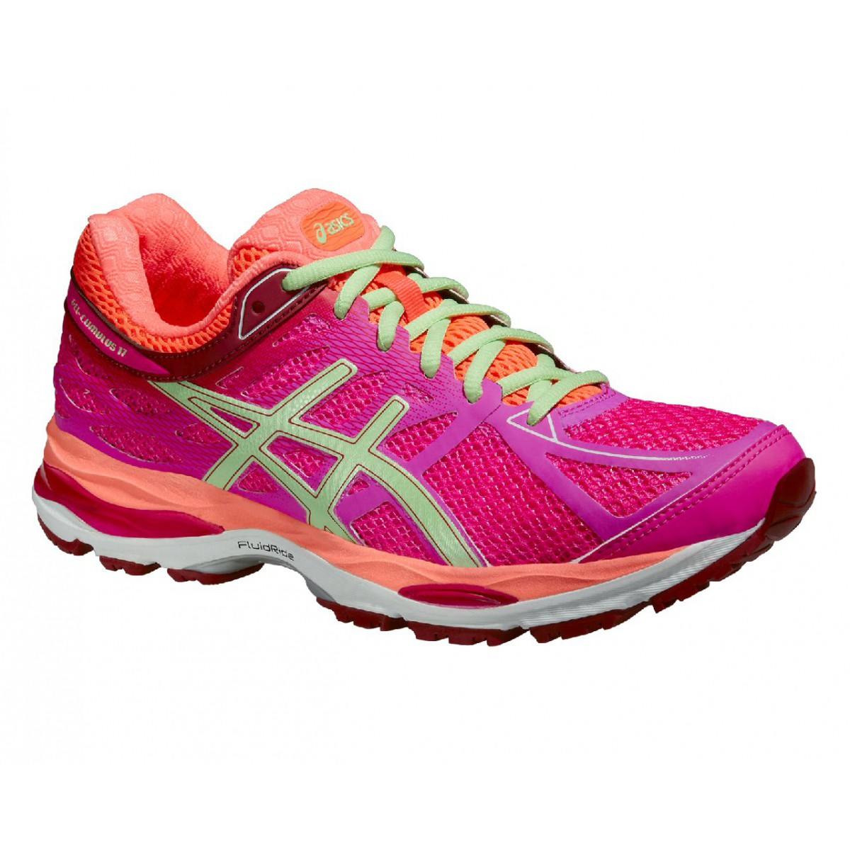 asics gel cumulus 17 2a 2015 pink laufschuhe damen. Black Bedroom Furniture Sets. Home Design Ideas