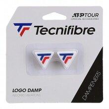 Tecnifibre Schwingungsdämpfer ATP Logo Tricolour weiss 2er