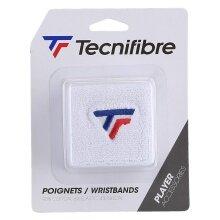 Tecnifibre Schweissband Logo weiss 2er