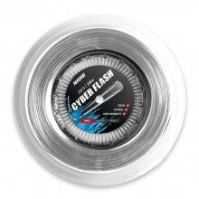 Topspin Tennissaite Cyber Flash (Haltbarkeit+Power) silber 110m Rolle