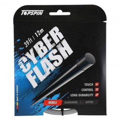 Topspin Tennissaite Cyber Flash (Haltbarkeit+Power) silber 12m Set