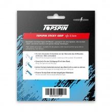 Topspin Griffband Sticky Grip Overgrip Griffigkeit 0,5mm weiss - 3 Stück