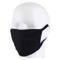 Mund- und Nasenmaske Classic Baumwolle - wiederverwendbar - schwarz