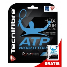 Tecnifibre HDX Tour Tennissaite + 1x TF Pro Contact Overgrip 3er