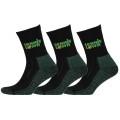 tennistown Socke Performance schwarz/grün 3er