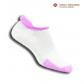 Thorlo Tennissocke Rolltop thick weiss/pink Damen