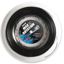 Topspin Tennissaite Max Rotation (Haltbarkeit+Spin) schwarz 110m Rolle