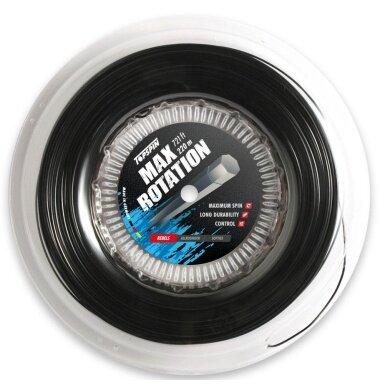 Topspin Tennissaite Max Rotation (Haltbarkeit+Spin) schwarz 220m Rolle