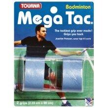 Tourna Mega Tac Badminton Overgrip 2er blau