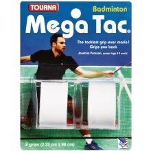 Tourna Mega Tac Badminton Overgrip 2er weiss