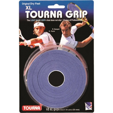Tourna Grip Overgrip XL 0.45mm blau 10er
