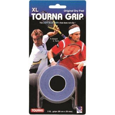 Tourna Grip XL Overgrip 3er blau