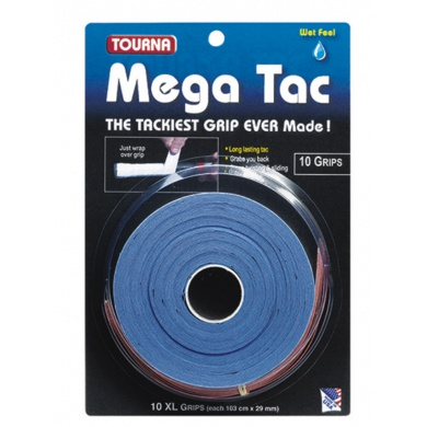 Tourna Mega Tac Overgrip 10er blau