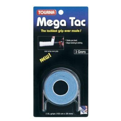 Tourna Mega Tac Overgrip 3er blau